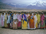 Schoolgirls, Boyerahmad Tribe, Iran, Middle East Photographic Print by Robert Harding
