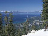 Lake Tahoe and Town on California and Nevada State Line, USA Photographic Print by Adam Swaine