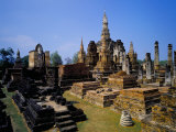 Wat Mahathat, Sukhothai Historical Park, Ruins Dating from 13th to 15th Century, Thailand Photographic Print by Marco Simoni