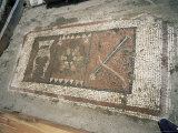 Mosaic Representing the Lyre, Sun and Bow, the Three Symbols of Apollo, Near Fethiye Photographic Print by Marco Simoni