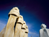 Gaudi Architecture, Chimneys, Casa Mila, La Pedrera, Barcelona, Catalonia, Spain Photographic Print by Marco Simoni
