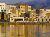 Hania Seafront and Levka Ori in the Background, Hania, Island of Crete, Mediterranean Photographic Print by Marco Simoni