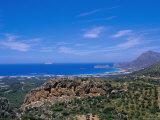 Aerial View of Falassarna Coastline and Beach, Falassarna, Island of Crete, Greece Photographic Print by Marco Simoni