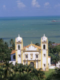Elevated View of Igreja Ns Do Carmo and Sea Beyond, Olinda, Pernambuco, Brazil, South America Photographic Print by Marco Simoni