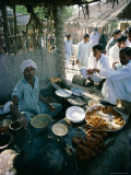 Food Stall, Mango Pier, Karachi, Sind (Sindh), Pakistan Photographic Print by Robert Harding