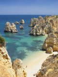 Praia Do Camilo (Camilo Beach) and Coastline, Lagos, Western Algarve, Algarve, Portugal Photographic Print by Marco Simoni