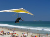 Hang-Glider Landing on Pepino Beach, Rio De Janeiro, Brazil, South America Photographic Print by Marco Simoni