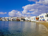 Little Venice Quarter and Harbour, Mykonos, Cyclades Islands, Greece, Mediterranean Photographic Print by Marco Simoni