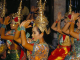 Dancers Performing at the Erawan Shrine, Bangkok, Thailand, Southeast Asia Photographic Print by Marco Simoni