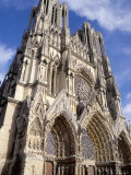 West Front of Reims Cathedral, Dating from 13th and 14th Centuries, France Photographic Print by Ian Griffiths