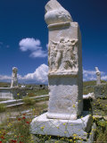 Phallic Monument at House of Dionisos, Archaeological Site of Delos, Greece Photographic Print by Marco Simoni