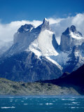 Cuernos Del Paine and Blue Waters of Lake Pehoe, Patagonia, South America Photographic Print by Marco Simoni