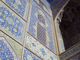 Detail of Tilework, Masjid-E Imam, Formerly the Shah Mosque, Isfahan, Iran Photographic Print by Robert Harding