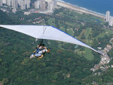 Hang-Glider after Taking off from Pedra Bonita, Rio De Janeiro, Brazil, South America Photographic Print by Marco Simoni