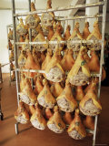 Parma Hams on Curing Racks, Near Pavullo, Emilia-Romagna, Italy Photographic Print by Ian Griffiths