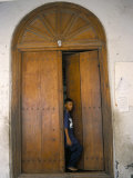 Arab Style Lamu Door, Old Town, Mombasa, Kenya, East Africa, Africa Photographic Print by Storm Stanley