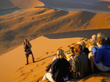 Tourist Group, Dune 45, Namib Naukluft Park, Namibia, Africa Photographic Print by Storm Stanley