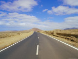 Road Through Volcanic Landscape Near Tiscamanita, Fuerteventura, Canary Islands, Spain Photographic Print by Marco Simoni
