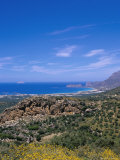 Aerial View of Falassarna Coastline and Beach, Falassarna, Island of Crete, Greece Photographic Print by Marco Simoni