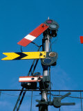 Home and Distant Signals (Gwr) on Gantry, Newton Abbot, Devon, England, United Kingdom Photographic Print by Ian Griffiths