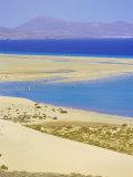 Sandy Dunes, Coastline and Peninsula De Gandia, Fuerteventura, Canary Islands, Spain Photographic Print by Marco Simoni