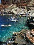 Fishing Harbour of Oia Village, Port of Ammoudi, Oia, Santorini (Thira), Cyclades Islands, Greece Photographic Print by Marco Simoni