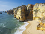 Dona Ana Beach and Coastline, Lagos, Western Algarve, Algarve, Portugal Photographic Print by Marco Simoni