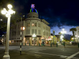Lampost and Deco Clock Tower in the Art Deco City of Napier, North Island, New Zealand Photographic Print by Don Smith