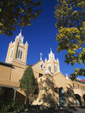 San Filipe De Neri Church, Old Town Plaza, Albuquerque, New Mexico, USA Photographic Print by Michael Snell