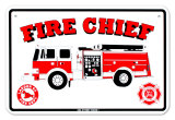 Fire Chief Tin Sign