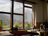 Nilgiri Range Whilst Enjoying Breakfast in Om's Home Hotel at Jomsom on the Annapurna Circuit Trek Photographic Print by Don Smith