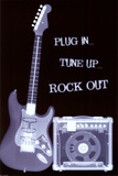 Plug In Tune Up Rock Out Poster