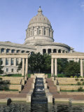 Missouri State Capitol, Jefferson City, Missouri, USA Photographic Print by Michael Snell
