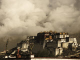 Image Taken in 2006 and Partially Toned, Dramatic Clouds Building Behind the Potala Palace, Tibet Photographic Print by Don Smith