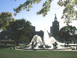 J.C. Nichols Fountain, Country Club Plaza, Kansas City, Missouri, USA Photographic Print by Michael Snell