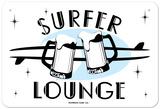 Surfer Lounge Plaque en métal