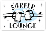 Surfer Lounge Tin Sign