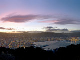 Panoramic View from Mount Victoria at Sunset, of Wellington, North Island, New Zealand Fotoprint av Don Smith