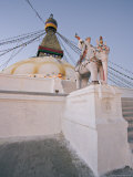 Dawn at Boudha, the Tibetan Buddhist Stupa at Bodhnath, Kathmandu, Nepal Photographic Print by Don Smith