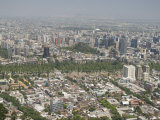 View from Cerro San Cristobal, Santiago, Chile, South America Photographic Print by Michael Snell