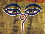 The Eyes on the Buddhist Stupa of Swayambhu, Kathmandu, Unesco World Heritage Site Photographie par Don Smith