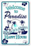 Paradis Plåtskylt