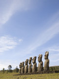 Ahu Akivi, Unesco World Heritage Site, Easter Island (Rapa Nui), Chile, South America Photographic Print by Michael Snell