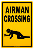 Airman Crossing Tin Sign