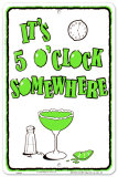 Cocktail Hour Tin Sign