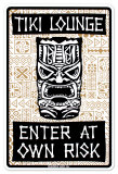Tiki Lounge Tin Sign
