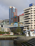 Modern Architecture Around the Civic Square, Wellington, North Island, New Zealand Photographic Print by Don Smith