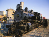 Locomotive, Haymarket District, Lincoln, Nebraska, USA Photographic Print by Michael Snell
