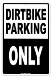 Dirtbike Parking Plaque en m&#233;tal