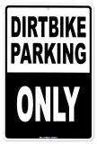 Dirtbike Parking Plaque en métal